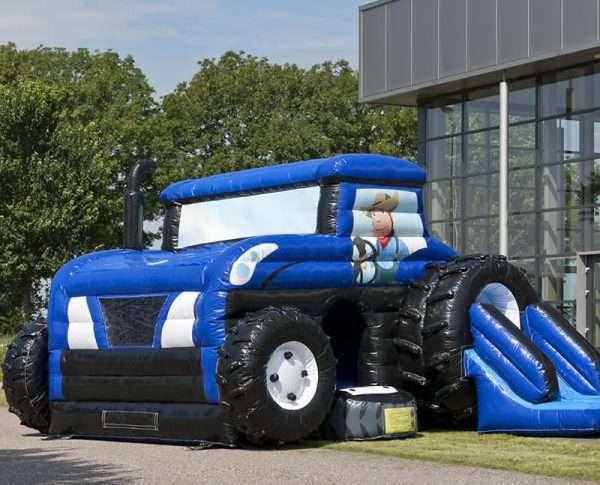 Springkussen Tractor met dak
