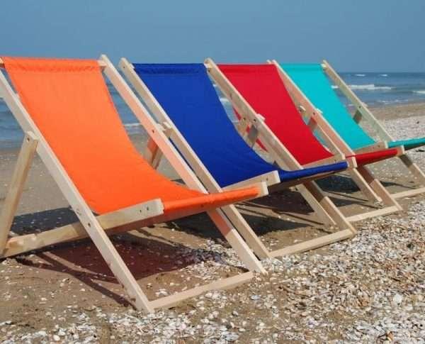 Strandstoelen in diverse kleuren