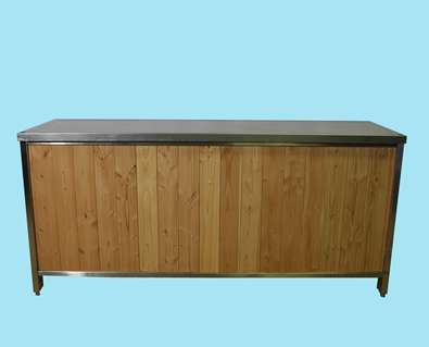 Uitgiftebuffet hout 200 cm