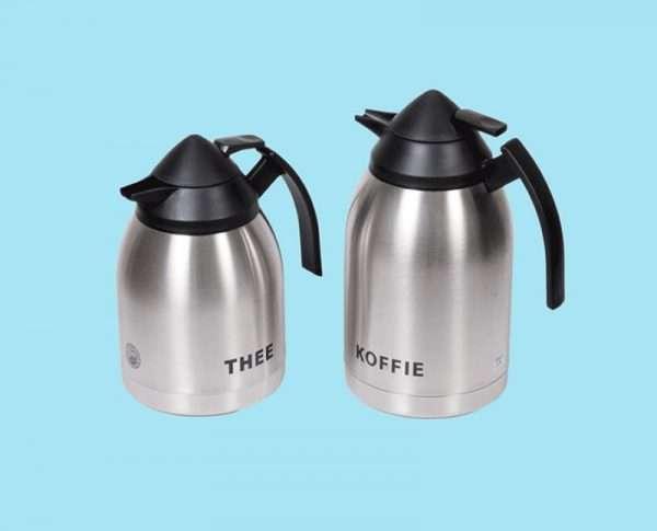 Thermoskan voor koffie of thee