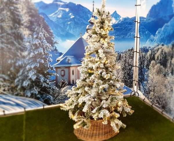 Kunstkerstboom met ledlampjes