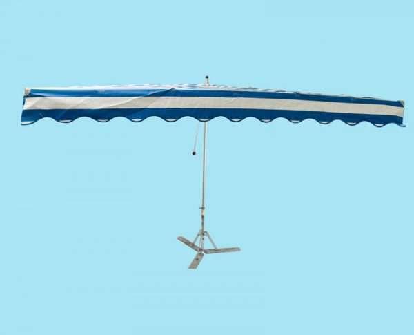 Parasol professioneel 3 x 3 m met RVS voet (waterbestendig)