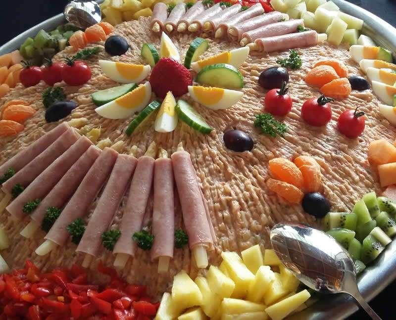 Salade met fruit