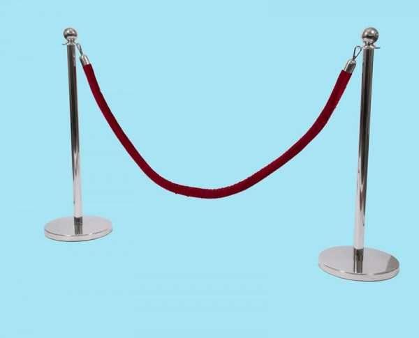 Sierkoord rood 150 cm
