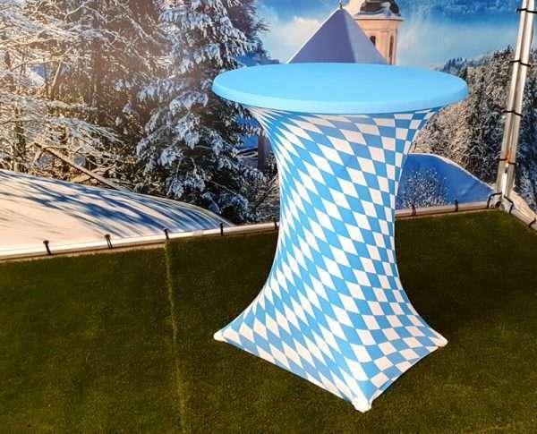 Statafel met statafelrok Beieren